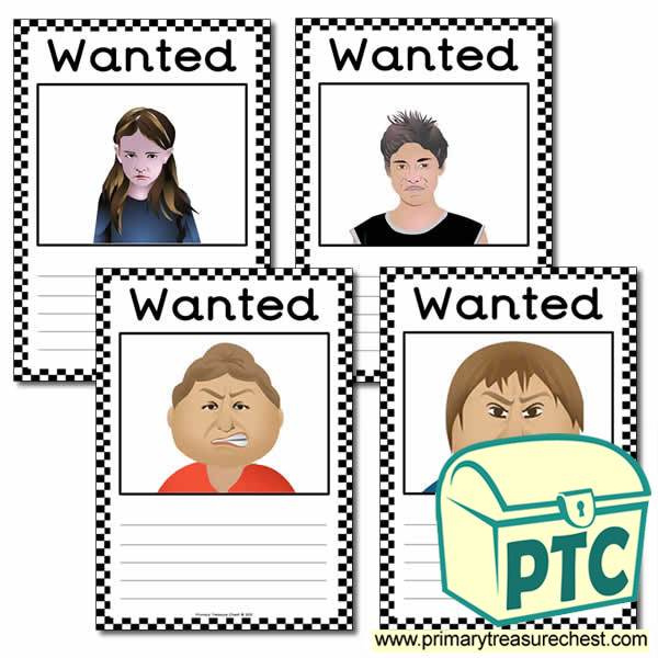 Role Play Police Blank Wanted Poster
