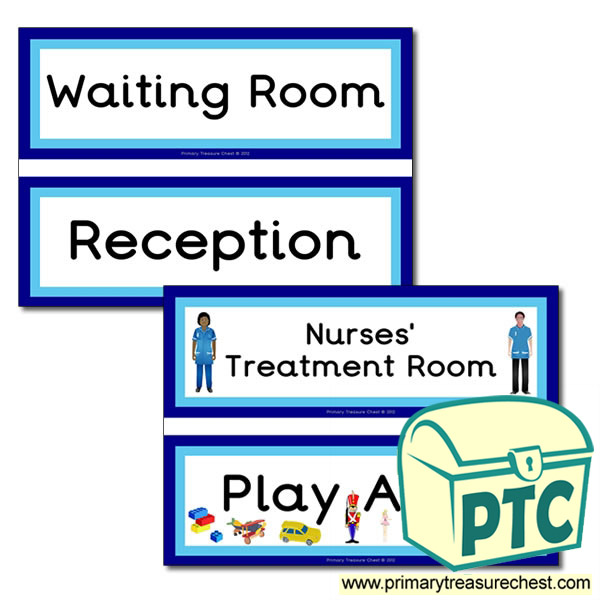 Doctors Surgery Themed Signs Primary Treasure Chest