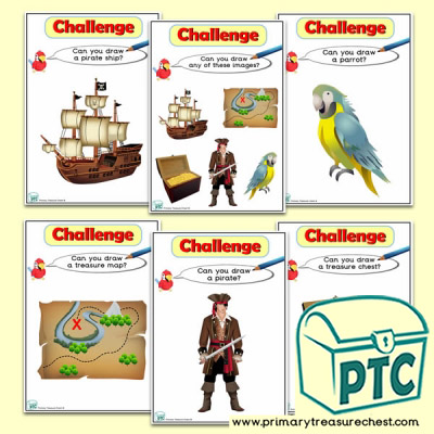 Pirate  Themed ICT Challenge Cards