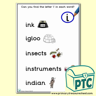 Find the Letter 'i' Activity Sheet