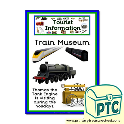 Train Museum Tourist Information Themed Poster