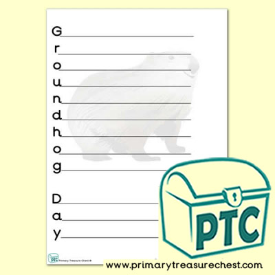 Groundhog Day Acrostic Poem Worksheet