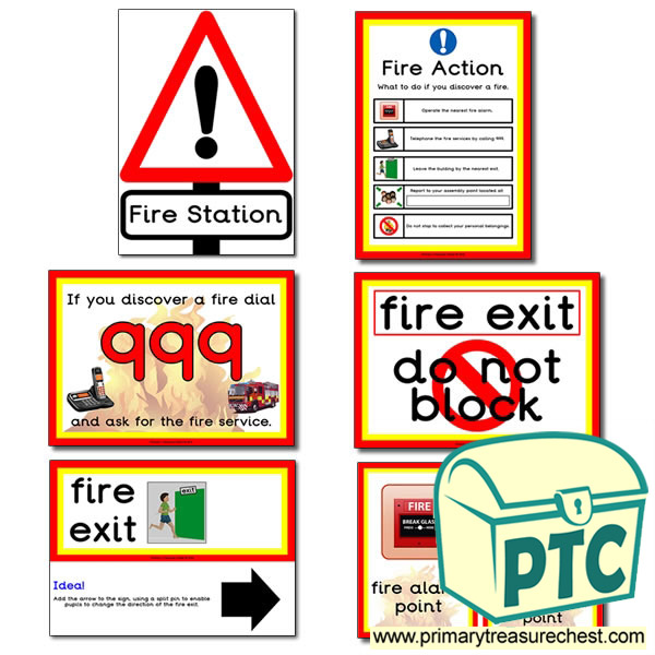 'Fire Station' Signs