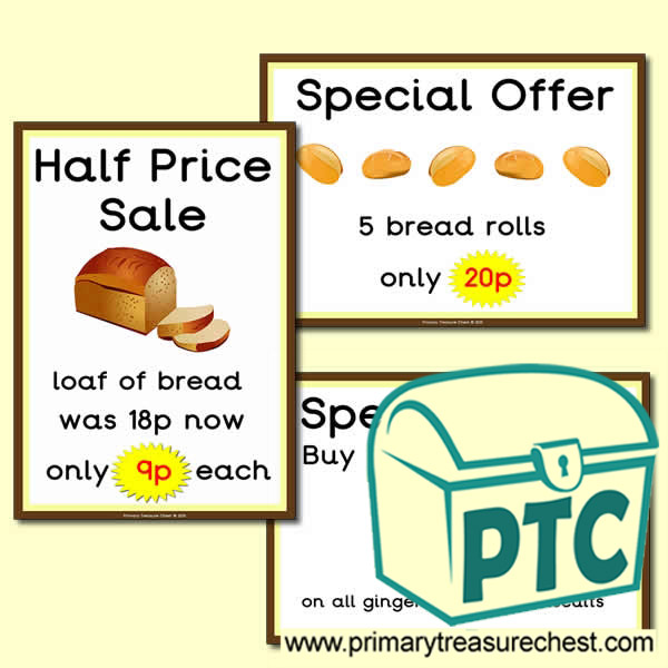 Bakery Shop Special Offers Posters (1-20p)