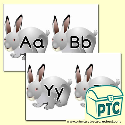Rabbit Alphabet Cards