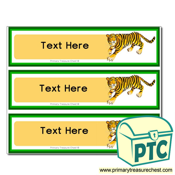 Tiger Pupil Drawer Labels (Large)
