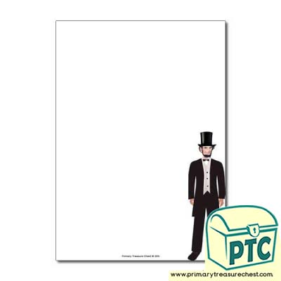 Abraham Lincoln Page Border/Writing Frame (no lines)