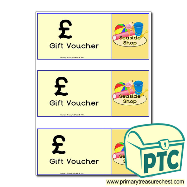Seaside Shop Shopping vouchers