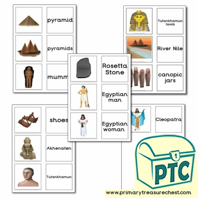 Ancient Egypt Themed Matching Cards
