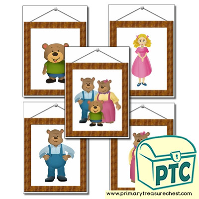 Picture Frames- Goldilocks and The Three Bears