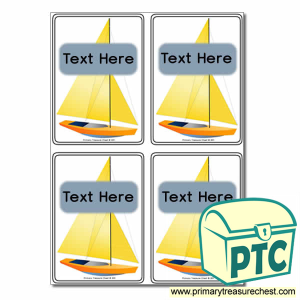Sail Boat Themed Registration Name Cards
