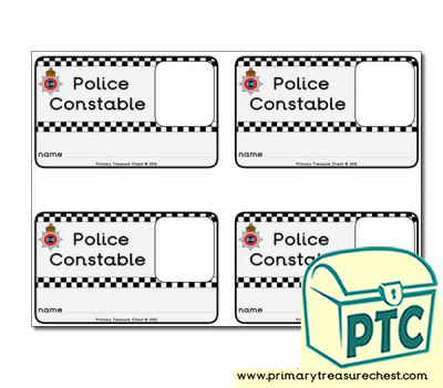 Role Play Police Constable ID Badges