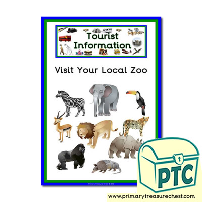 Zoo Tourist Information Themed Poster