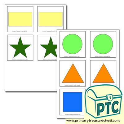 2D Shapes - Matching Cards