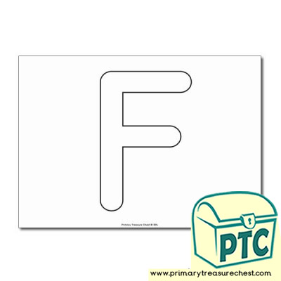Uppercase Letter 'F' Bubble  A4 Poster - No Images.