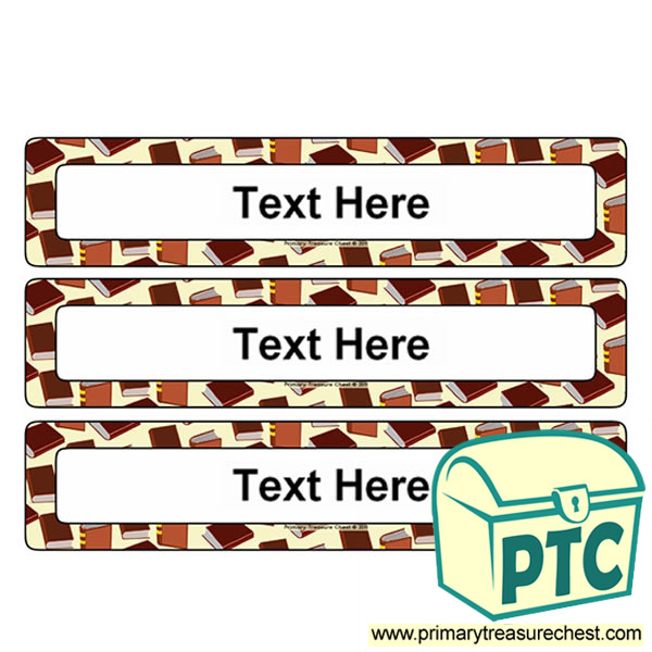 Reading Themed Drawer Labels (Large)