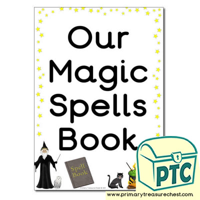 Magic Spell Book Cover