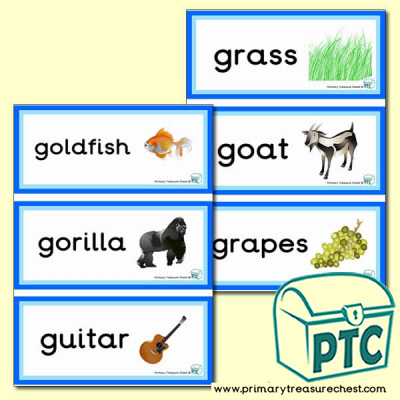 Letter 'g'  Themed Flashcards