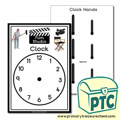 Film Studio Role Play Clock