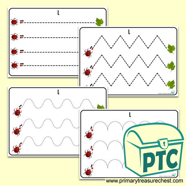 'Ll' Themed Pre-Writing Patterns Activity Sheets