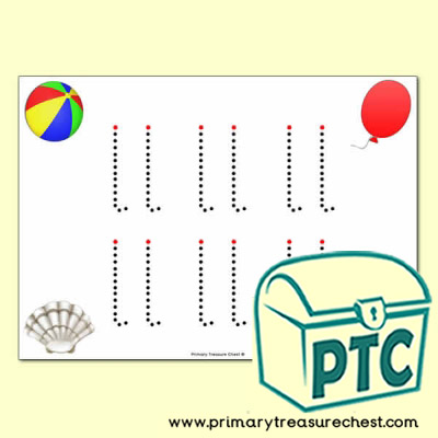 'll' Double Letter Formation Activity - Join the Dots