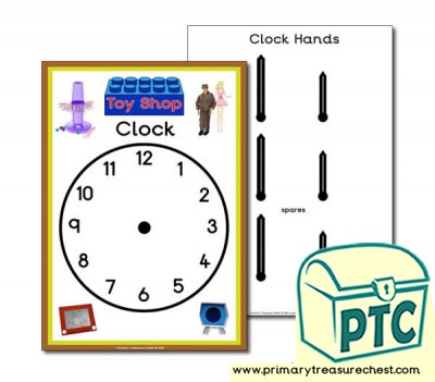 1960s Toy Shop Role Play Clock