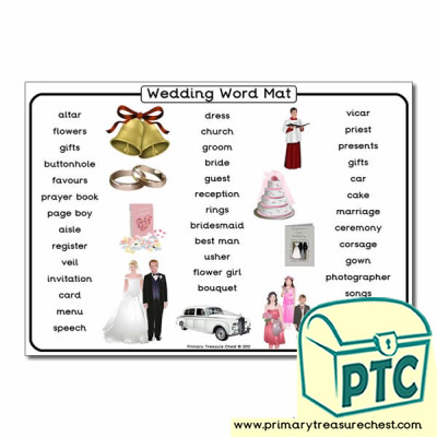 Wedding Themed Word Mat