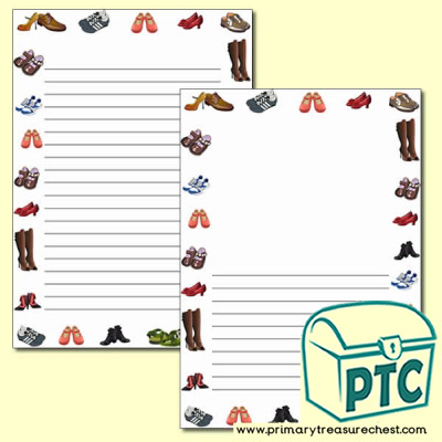 Shoe Themed Page Border/Writing Frame (no lines)