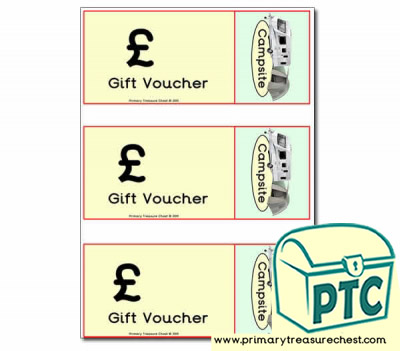 Role Play Campsite Shop Vouchers (blank)