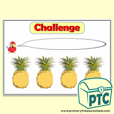 Pineapple Number Line Challenge Poster