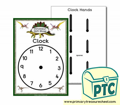 Dinosaur Role Play Shop Clock