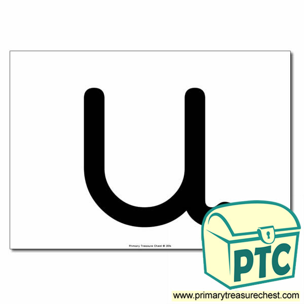 'u' Lowercase Letter A4 poster  (No Images)