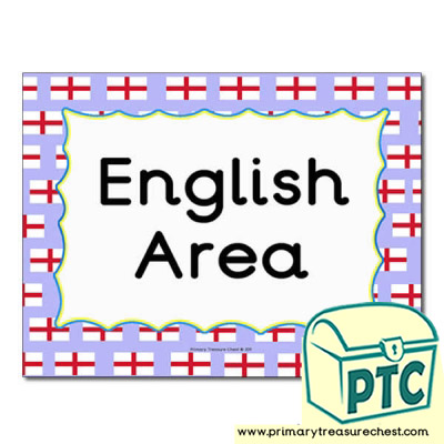 English area Classroom sign