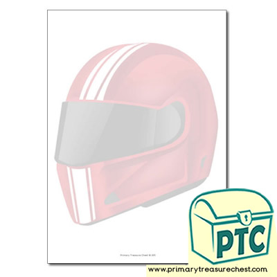 Motorbike Helmet themed Page Borders/Writing Frames (no lines)