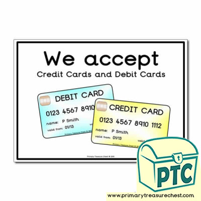 Role Play Credit Cards / Debit Cards Poster