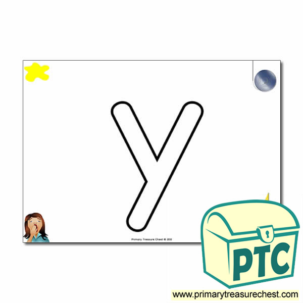 'y' Lowercase Bubble Letter A4 Poster containing high quality and realistic images