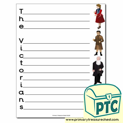 'The Victorians' Themed Acrostic Poem Sheet