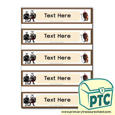 Vikings Themed Pupil Drawer Labels (Small)