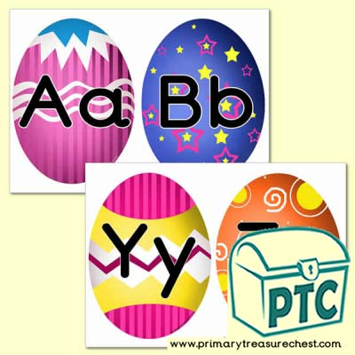 Easter Themed Alphabet Cards (upper and lower case)