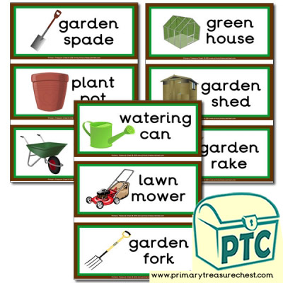 Gardening Equipment Themed Flashcards