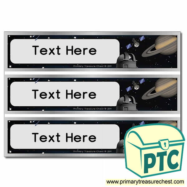 Free Astronomy Themed Pupil Drawer Labels (Large)