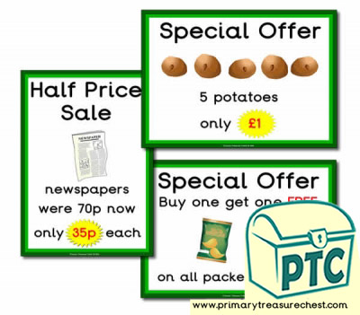Role Play Campsite Shop Special Offers (21p-£99)