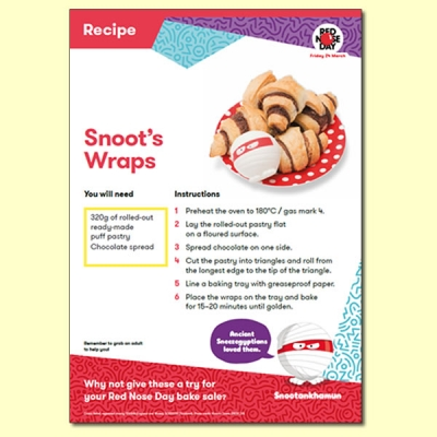 Snoot's Wraps Recipe For Red Nose Day