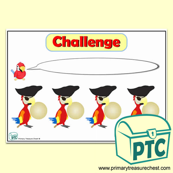 Pirate Parrot Number Line Challenge Poster - Primary ...