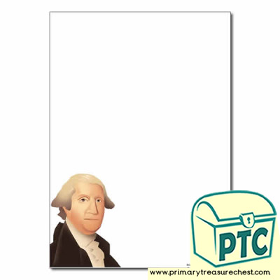 George Washington Themed Page Border/Writing Frame (no lines)