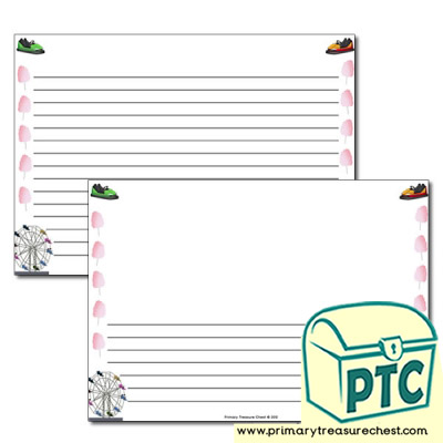 Fairground Page Border/Writing Frame (narrow lines)