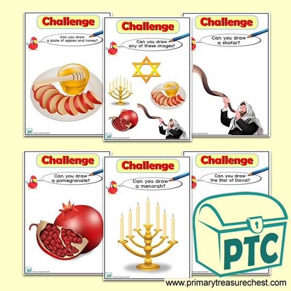 Rosh Hashanah Themed ICT Challenge Cards