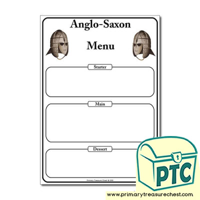Anglo-Saxon Themed Menu  Worksheet