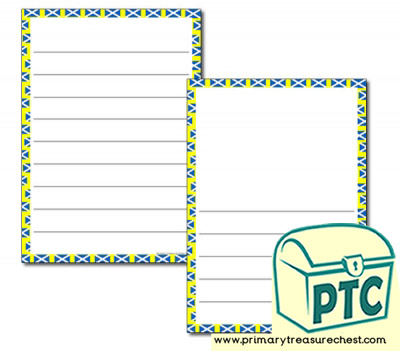 Scottish Themed Page Border/Writing Frame (wide lines)