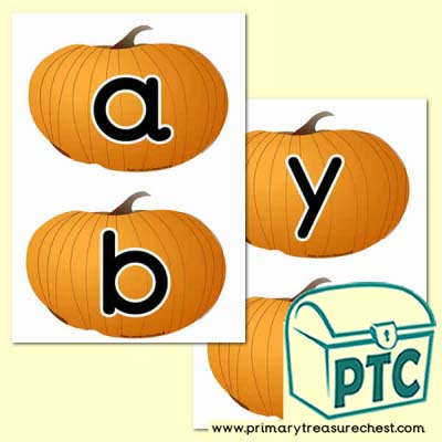 Pumpkin  Themed Alphabet Cards